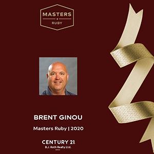 Brent Ginou Masters Ruby Award