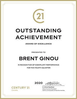 Brent Ginou Outstanding Achievement 4th Quarter