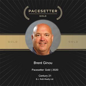 Brent Ginou 2020 Pacesetter Award